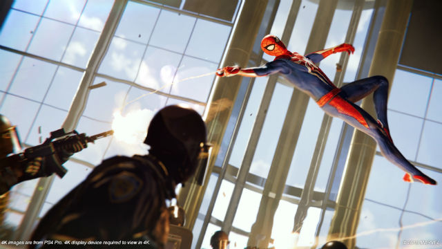 Making Spider-Man swing into action is just as easy, but varying enemies and locations give players a healthy challenge and a chance to really put his acrobatic combat skills to the test. Image from Sony