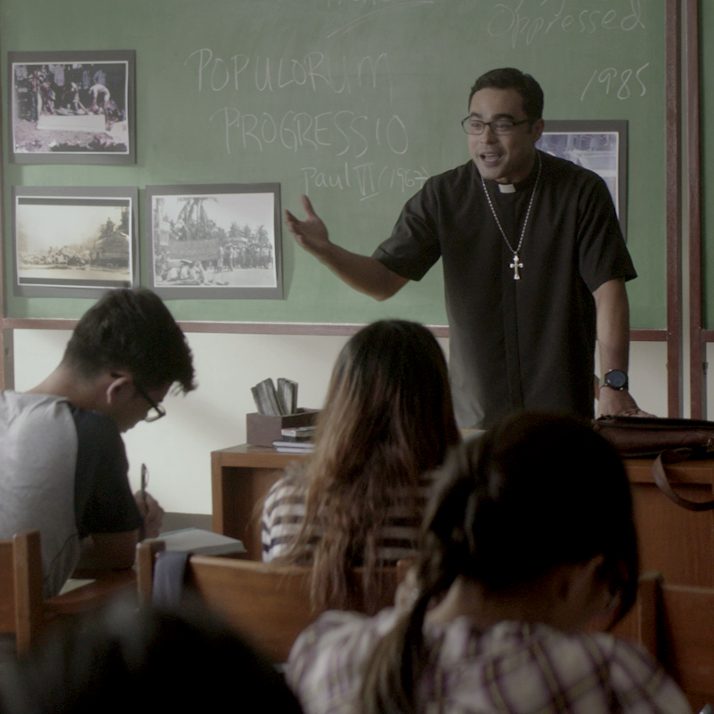 HELP. Jerome Lucero (Sid Lucero) teaches students but is asked to help in solving the children's murders. Photo from Smaller and Smaller Circle Facebook page