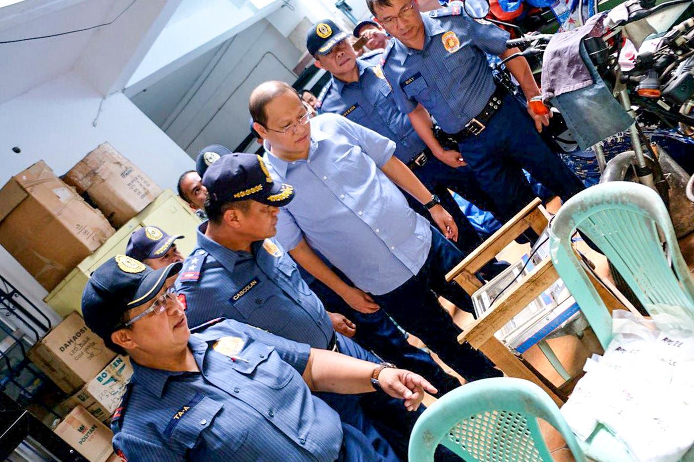 SHABU LAB. Authorities check some items found inside the shabu laboratory in a subdivision in Barangay Nangka, Marikina. Photo courtesy of NCRPO