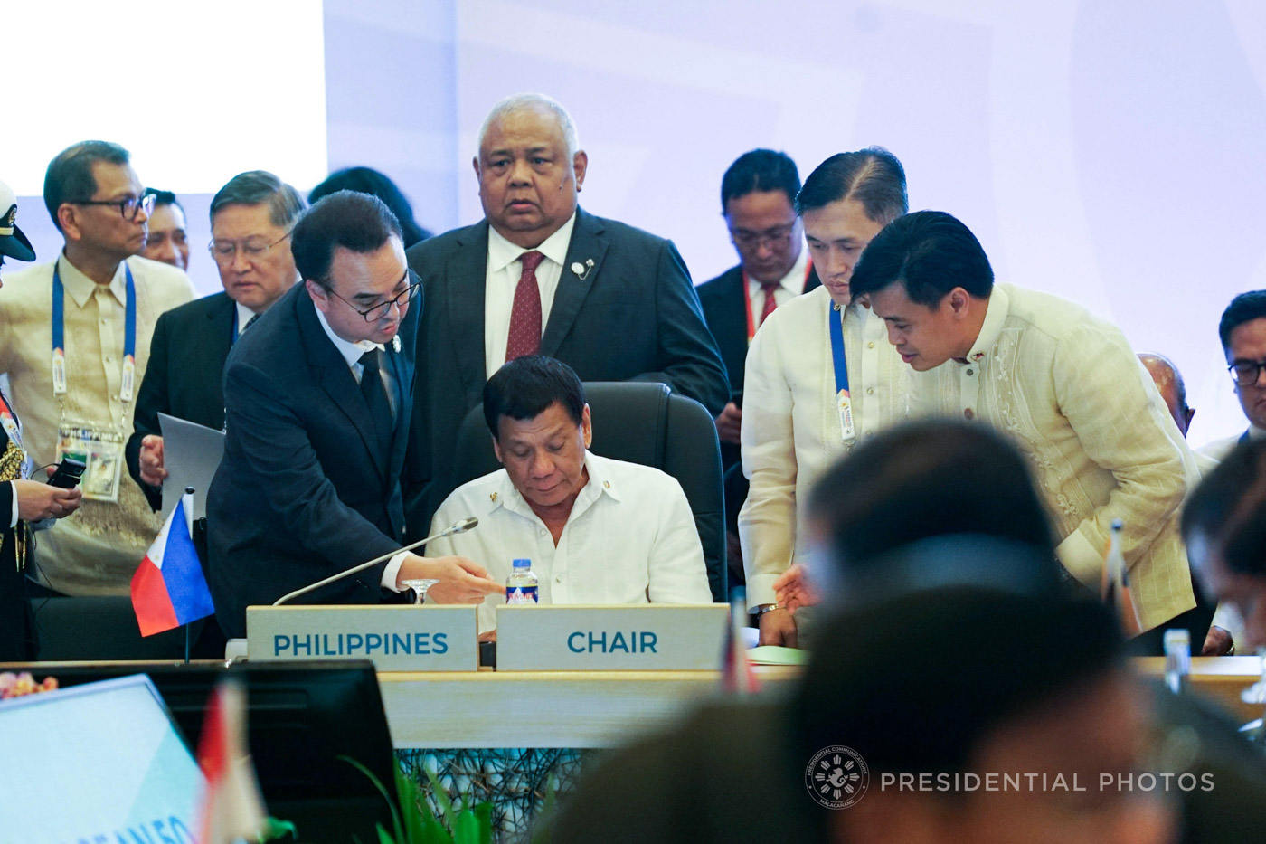 RELUCTANT SUMMIT PARTICIPANT. President Rodrigo Duterte presides over a meeting during the ASEAN Summit in Manila in November. Malacau00f1ang file photo