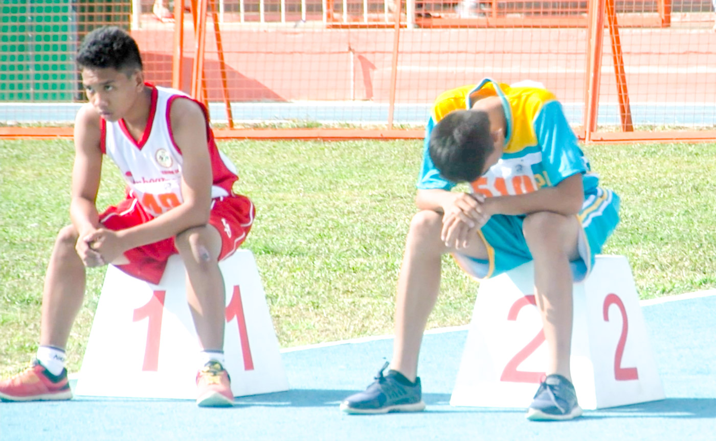 AFTER THE RACE. Leo Lee takes a breather. Screenshot by Rappler