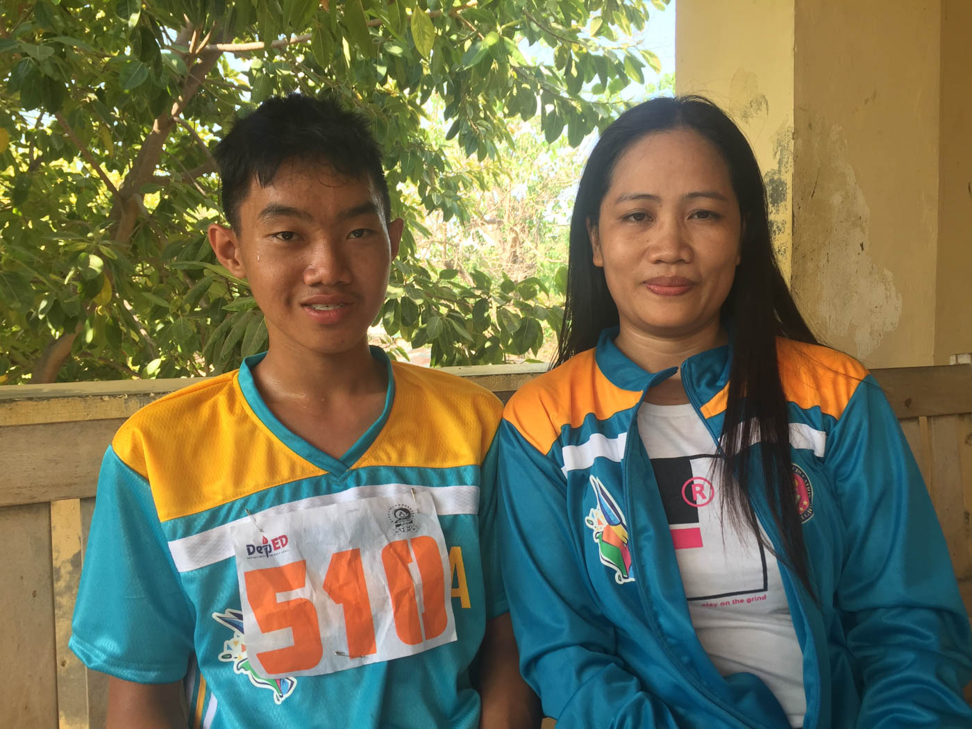 ATHLETE AND COACH. Leo Lee and Mary Jane are looking to train harder for next year's Palarong Pambansa. Photo by Mara Cepeda/Rappler