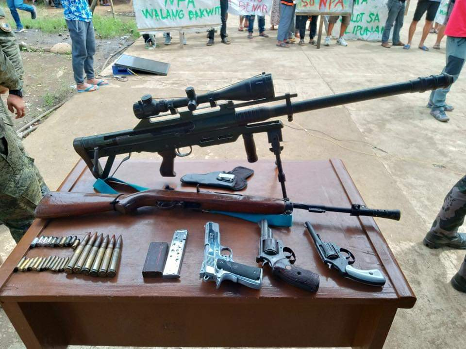 SEIZED. Part of the cache surrendered by NPA suspects in Lumba Bayabao town in Lanao del Sur on August 2, 2019.  Photo from 103rd IB Civil Military Operations command
