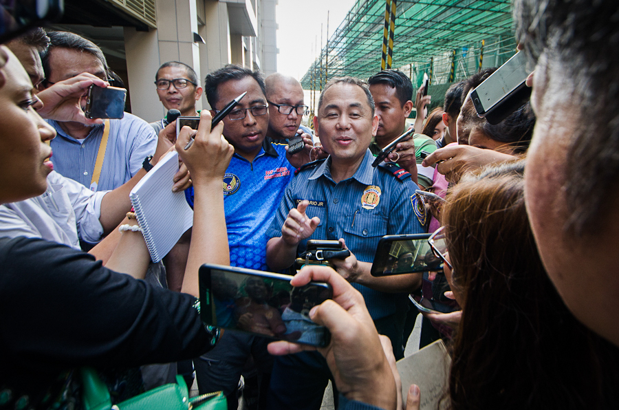 PRESS CONFERENCE. Southern Police District chief Anton Apolinario disclosed that they already have a person of interest in their custody. Photo by Rob Reyes/Rappler