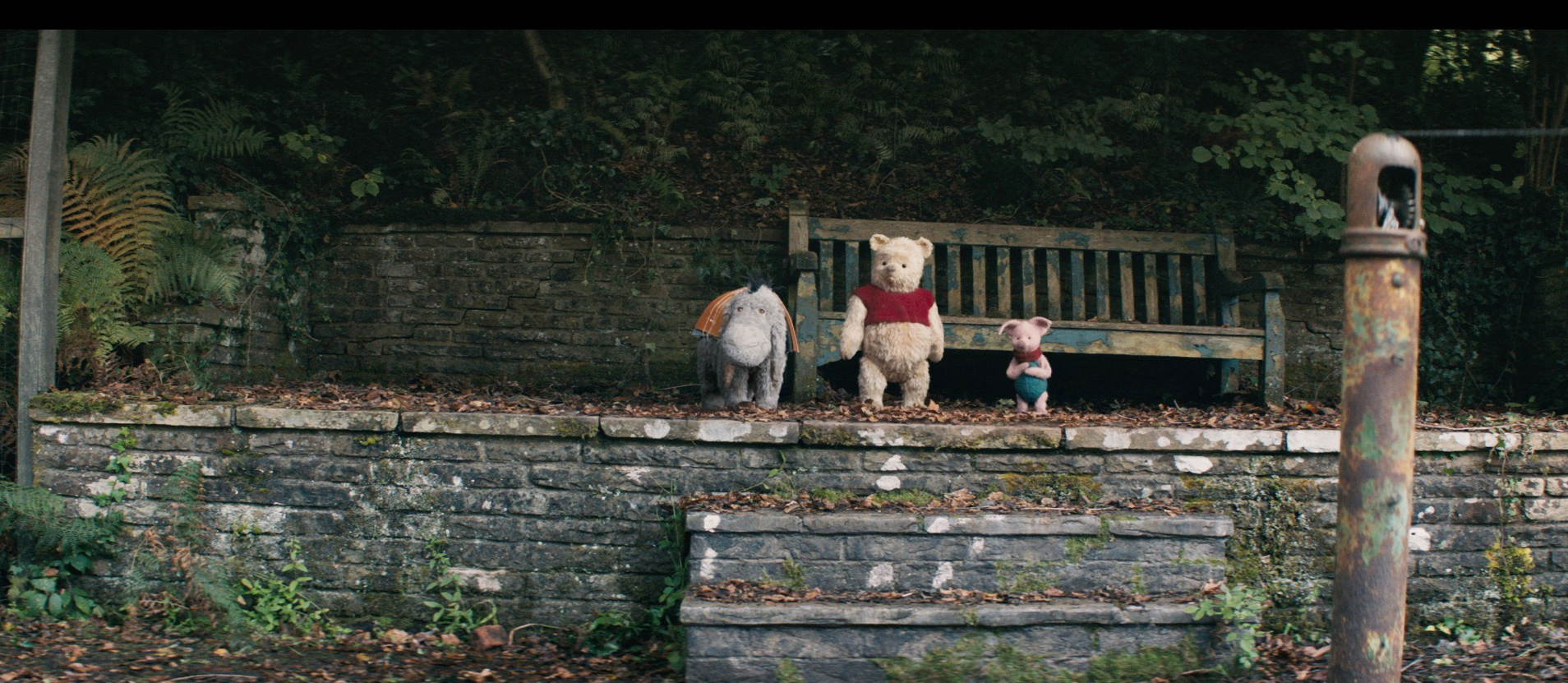 OH, DEAR. Eeyore, Pooh and Piglet as depicted in the 2018 Disney live-action featuer 'Christopher Robin.' Image courtesy of Disney Enterprises, Inc./All Rights Reserved
