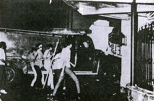 50 YEARS AGO. Student activists protest the abuses of the Marcos regime in a rally in Malacau00f1ang in January 1970. Sourced photo.