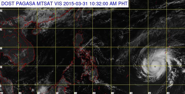 MTSAT image of Typhoon Maysak, 10:32 am PH time, March 31, 2015. Image courtest PAGASA