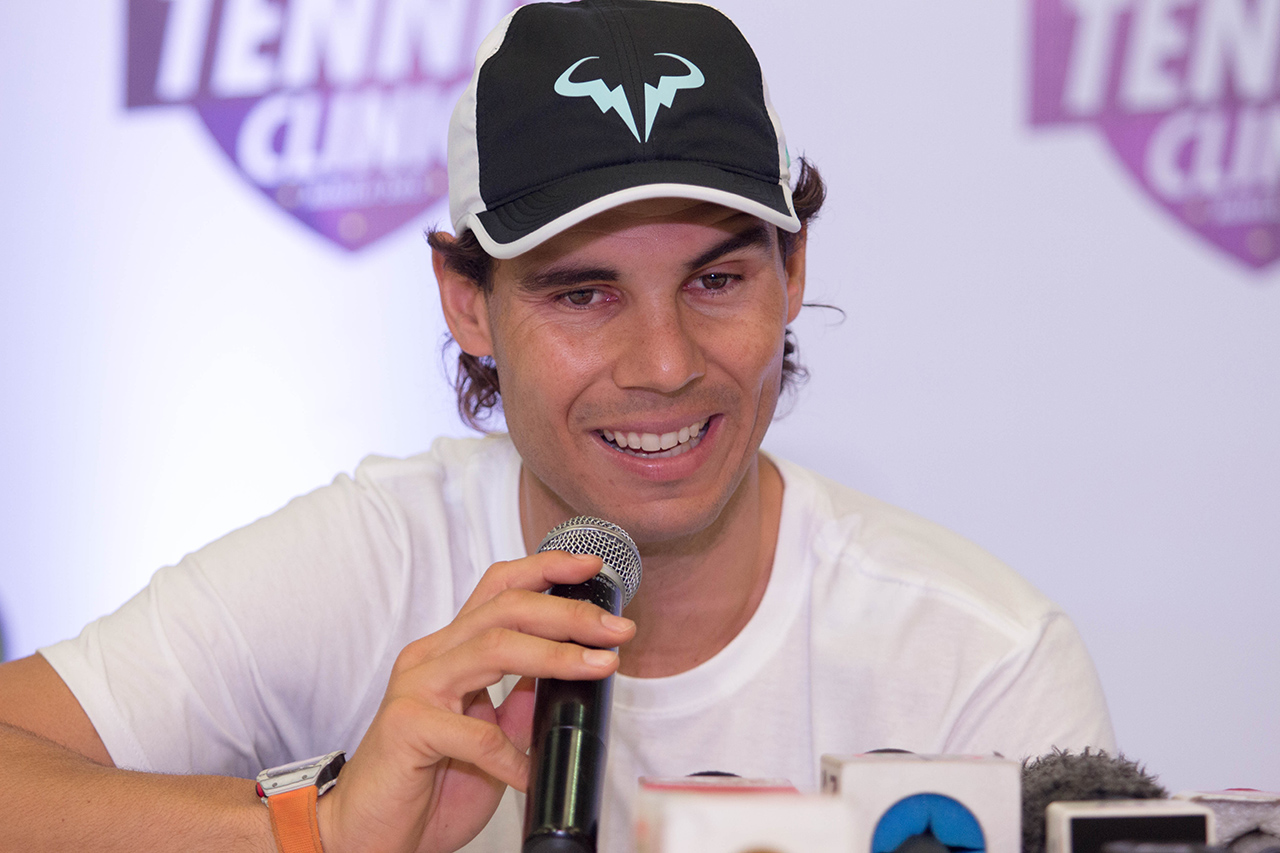 NADAL IN MANILA. Rafael Nadal visits Manila for the first time and will compete in the International Premier Tennis League. Photo by Ena Terol/Rappler