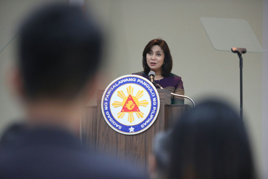 REVIEW WAR ON DRUGS Vice President Leni Robredo says the government should review its war on drugs. Photo from the Office of the Vice President