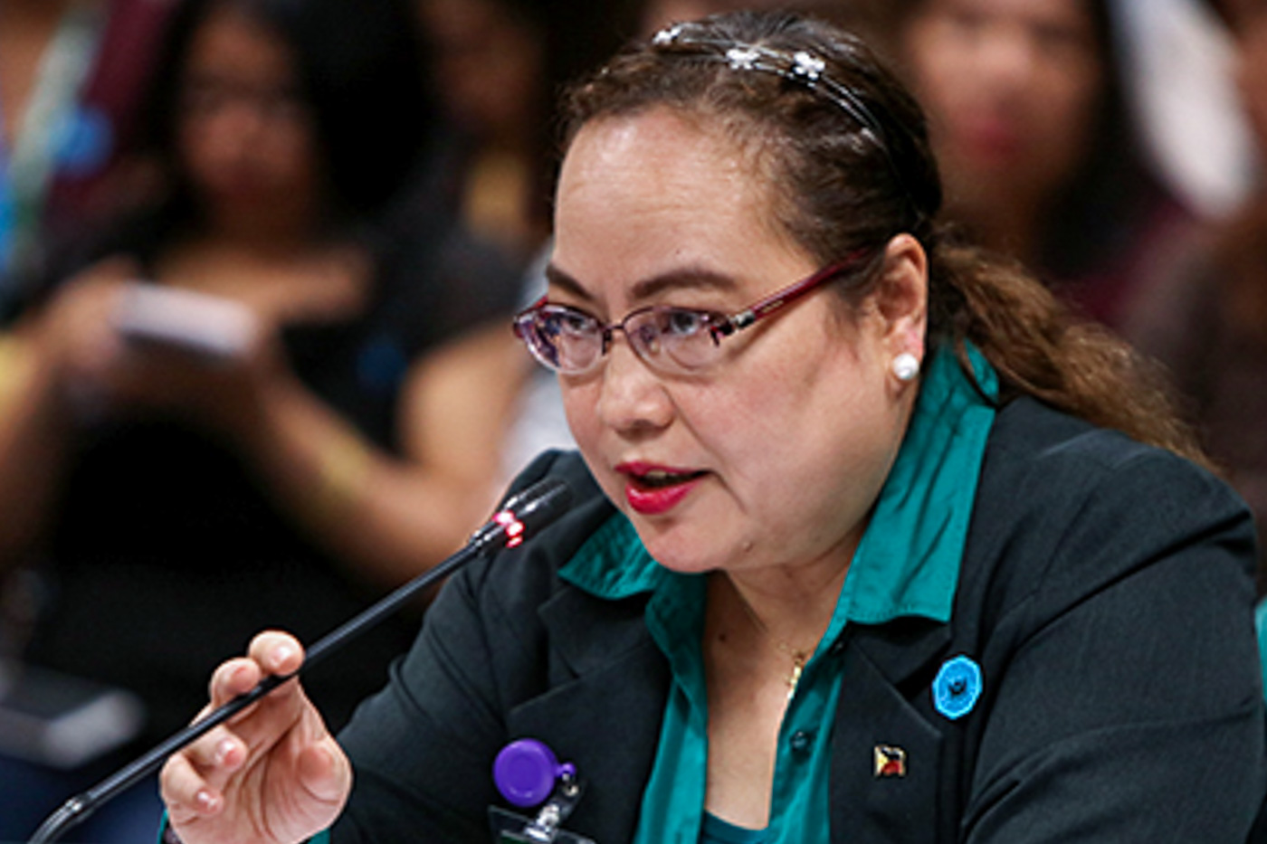 BYPASSED. Health Secretary Paulyn Ubial attends her confirmation hearing on May 17, 2017. The Commission on Appointments bypassed her. File photo by Lito Boras/Rappler