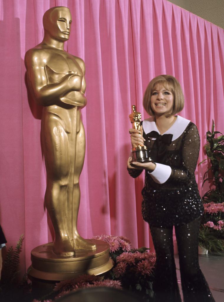 BELL-BOTTOM BLUES. Barbra Streisand wears Arnold Scaasi. Photo from oscar.go.com