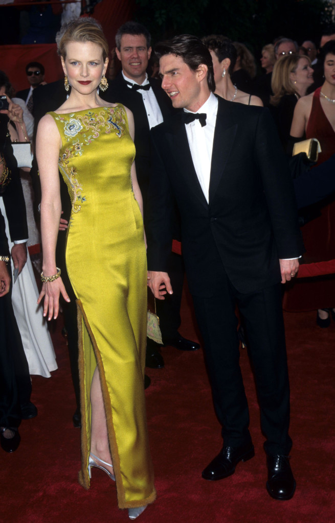 CHARTREUSE. Nicole Kidman goes for bold color in Dior. Photo from oscar.go.com