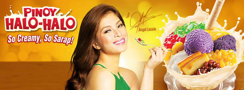 Actress Angel Locsin is featured in the poster for the So Creamy, So Sarap! Mang Inasal Pinoy Halo-Halo