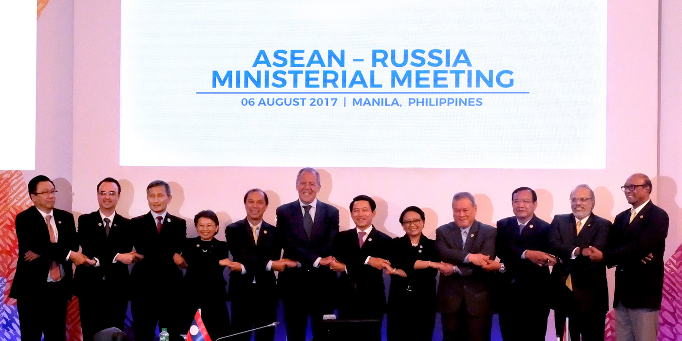 ASEAN MEETING. Foreign ministers of the Association of Southeast Asian Nations attend the ASEAN-Russia Ministerial Meeting on August 6, 2017. Photo by Angie de Silva/Rappler
