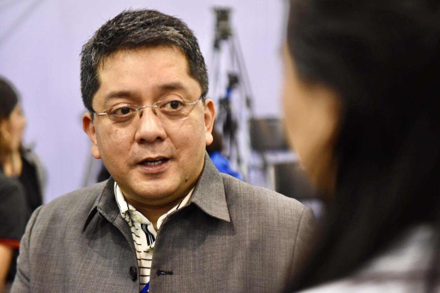 ELECTION LAWYER. Attorney George Garcia, counsel of several senatorial candidates answers questions from media at the national canvassing of votes on May 19, 2019. Photo by Angie de Silva/Rappler