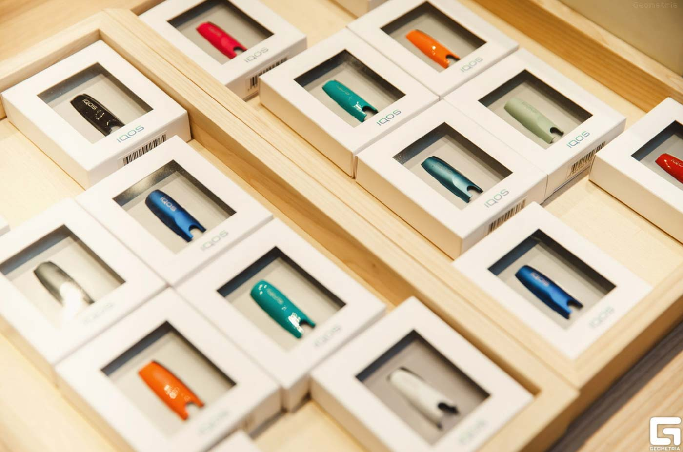 COLORFUL. IQOS on display. Photo courtesy of Stanford University
