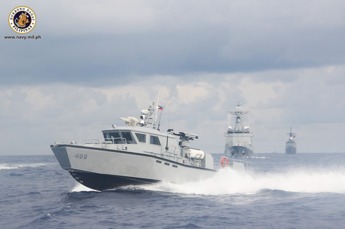 BRP JOSE RIZAL. PH Navy's newest missile capable frigate arrives in the Philippines. Photo courtesy of Philippine Navy