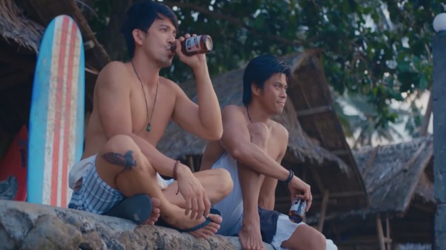 FRIENDS. Dennis and Jerald play surfers and friends in the movie.