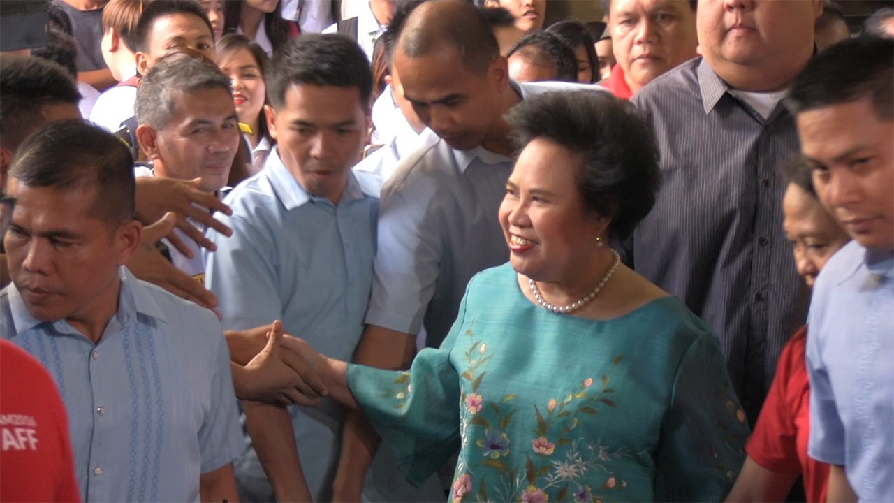 YOUTH ENGAGEMENT. Presidential candidate Miriam Defensor Santiago during her visit at the University of Perpetual Help in Biu00f1an, Laguna on Tuesday, March 1.