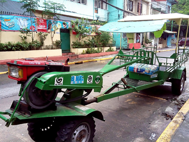 Barangay San Antonio owns 3 motorized vehicles called kuliglig (shown above) and two speedboats that the school sometimes uses to transport students and teachers during floods.