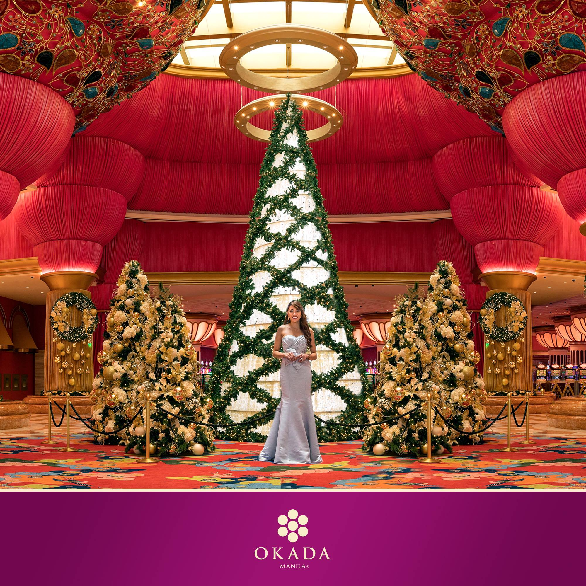 OKADA MANILA. The hotel's tree is not your usual Christmas tree. Photo from Facebook.com/OkadaManilaPH