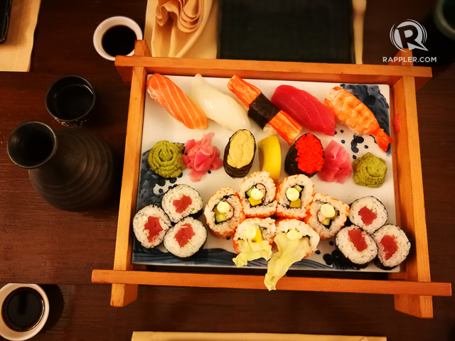 SUSHI. Mizu serves excellent Japanese food, a feast for the eyes and the tongue alike.