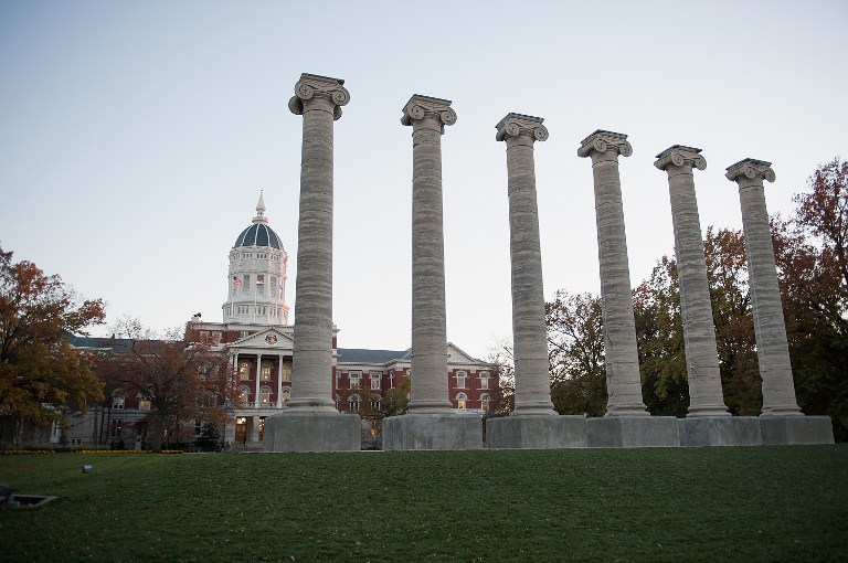 The Academic Hall on the campus of University of Missouri-Columbia is seen on November 10, 2015 in Columbia, Missouri. Michael B. Thomas/Getty Images/AFP