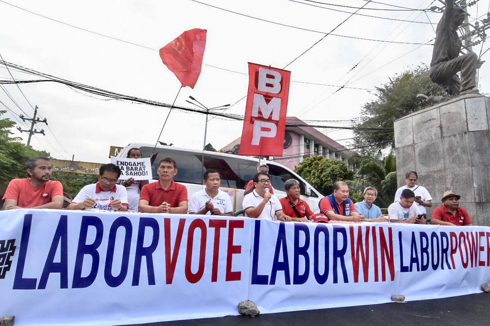 LABOR VOTE? Labor Win candidates appeal for a 'labor vote' for the midterm elections during their press conference in Manila on Labor Day, May 1, 2019. Photo by Angie de Silva/Rappler
