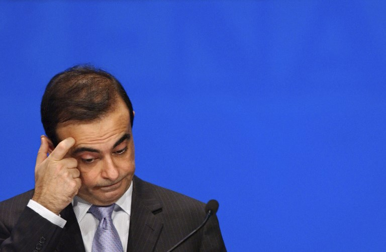 GHOSN. In this file photo taken on April 29, 2005 then-Nissan's chief executive Carlos Ghosn gestures during the Renault general assembly in Paris. File photo by Eric Feferberg/AFP