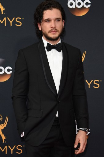 'Game of Thrones' Kit Harington arrives for the 68th Emmy Awards on September 18, 2016 at the Microsoft Theatre in Los Angeles. Photo by  Robyn Beck /AFP