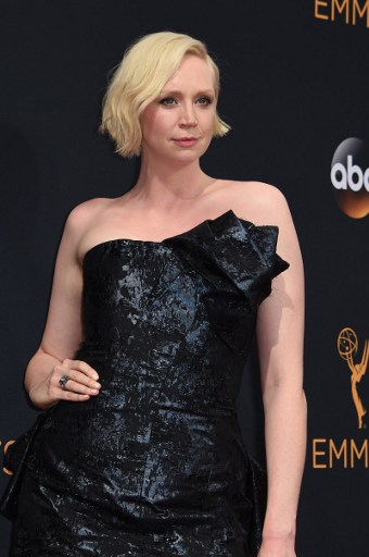 Gwendoline Christie arrives for the 68th Emmy Awards on September 18, 2016 at the Microsoft Theatre in Los Angeles. Photo by Robyn Beck /AFP