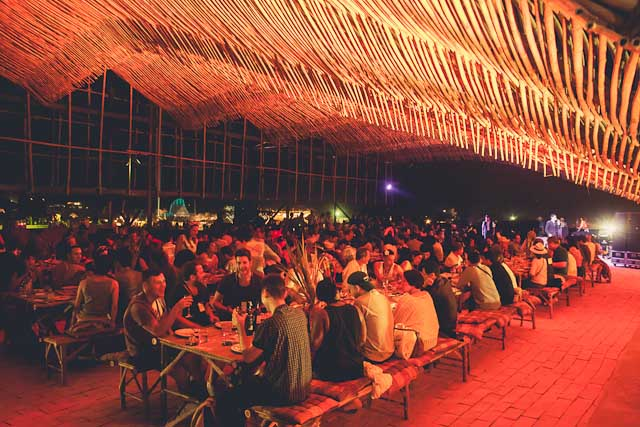 THEATER OF FEASTS. Indulge in a banquet by top chef Gaggan in the company of fellow festivalgoers. Itu2019s like Hogwartsu2019 Great Hall, but in the great tropical outdoors