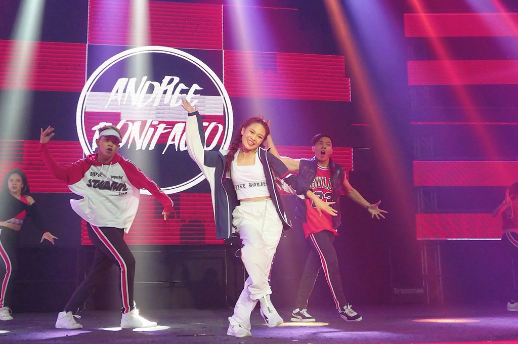 MOVE. AC Bonifacio does a dance number at the YouTube Fanfest Festival.