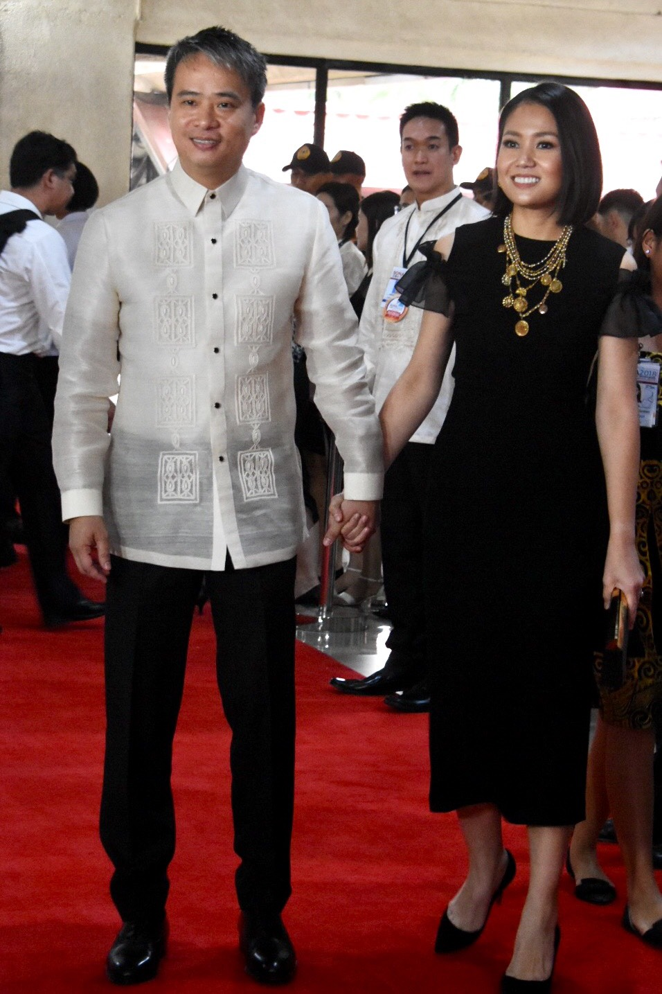 Senator Joel Villanueva and wife Gladys.