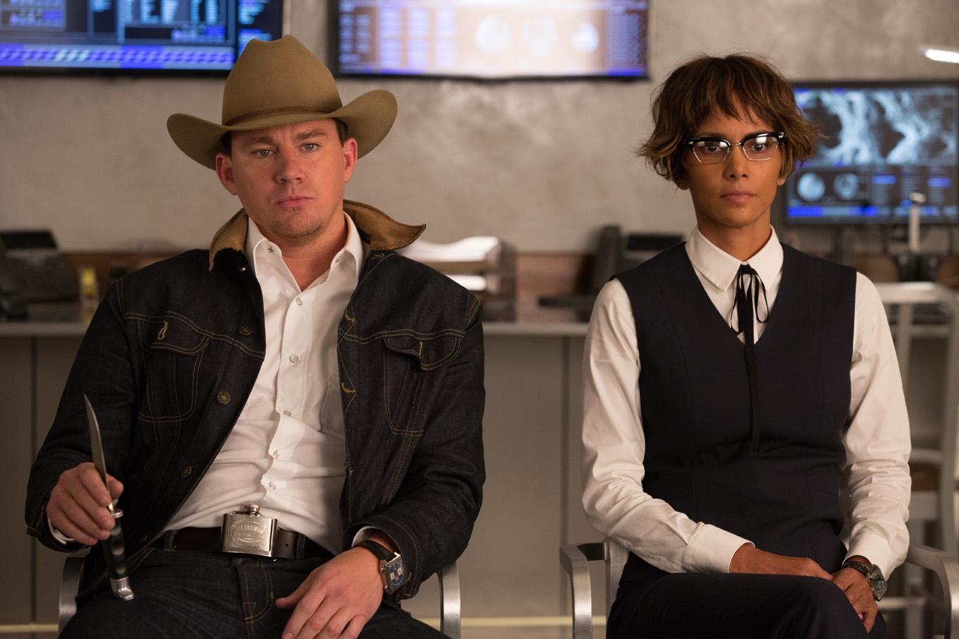 Channing Tatum and Halle Berry in 'Kingsman:The Golden Circle.' Photo by Giles Keyte/20th Century Fox
