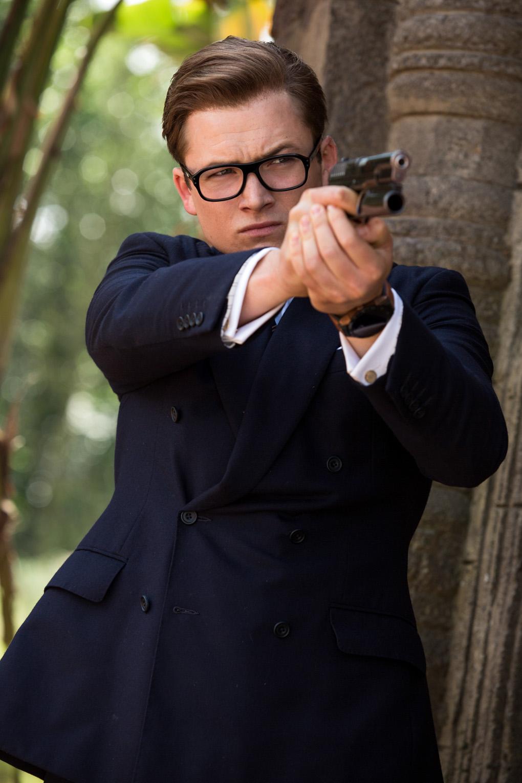 KINGSMAN. Taron Egerton returns as Eggsy, a working class man who joins the elite spy organization. Photo courtesy of 20th Century Fox