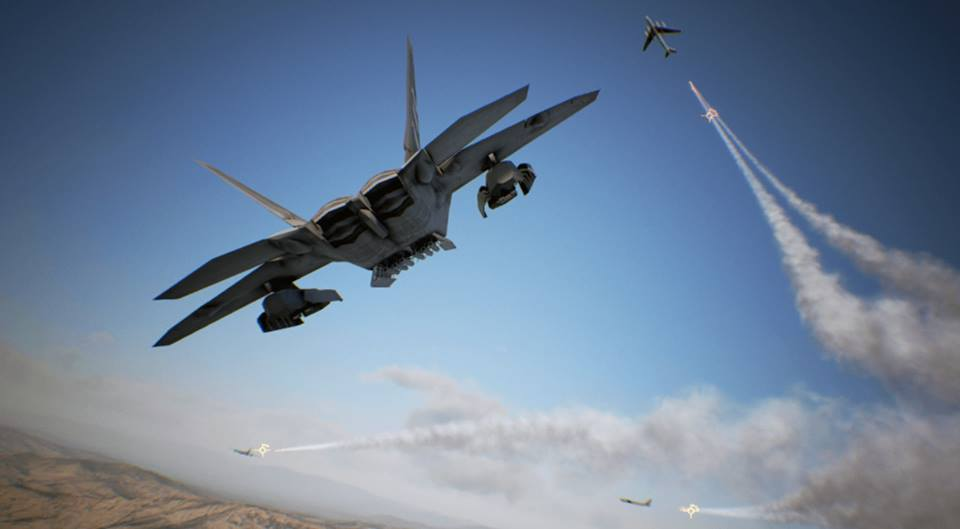 UP CLOSE AND PERSONAL. Dogfights reach a new level of intensity in VR mode. Screenshot from Ace Combat 7/Bandai Namco