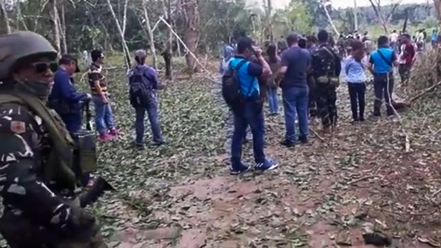 EXPLOSION. The site of an explosion in Barangay Colonia, Lamitan, Basilan, on July 31, 2018. Screenshot from video of Richard Falcatan
