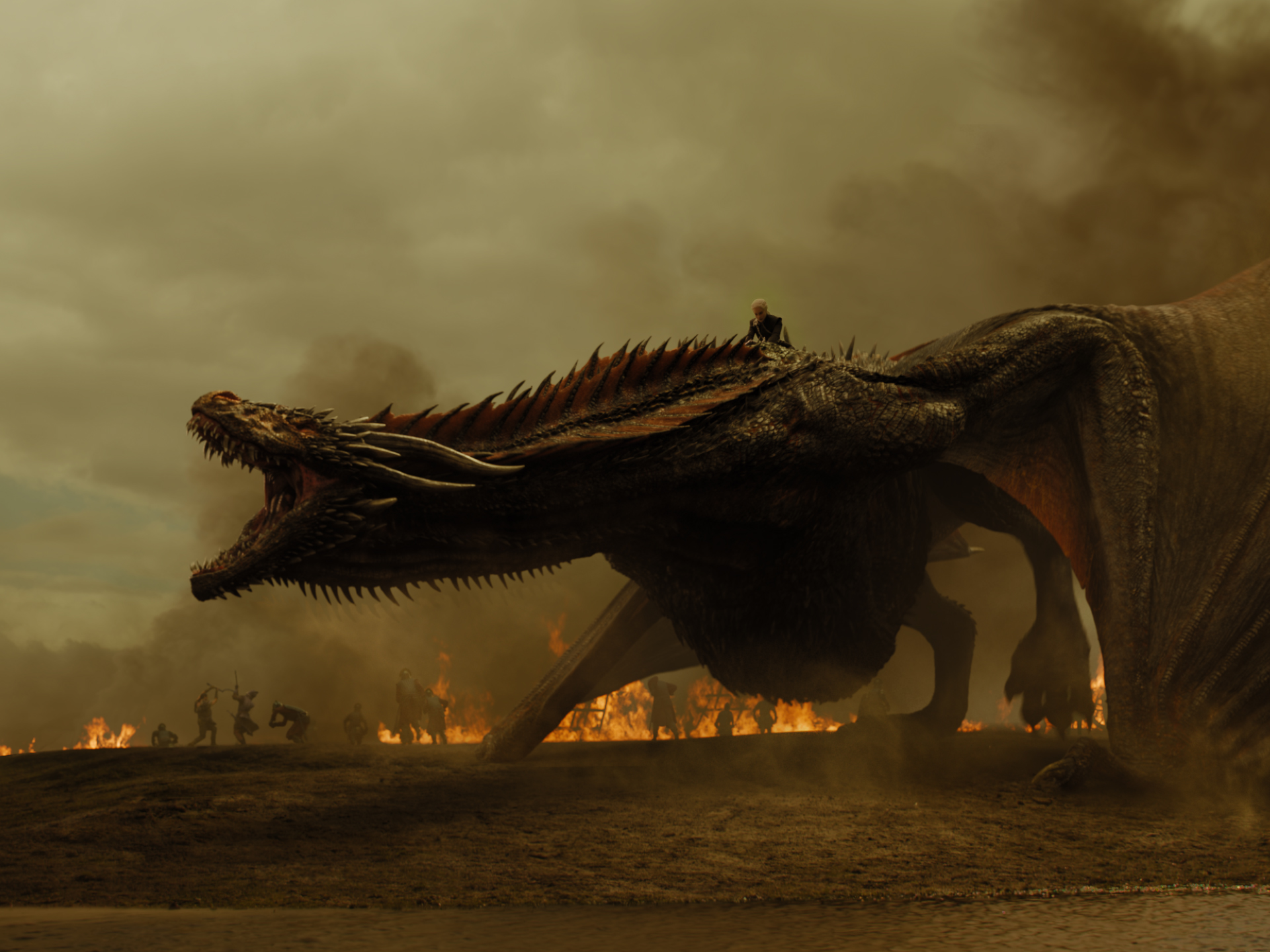 YEAR OF THE DRAGON. Daenerys Targaryen overturns a losing battle when she unleashes drogon over the Lannister army. Photo by Helen Sloan/ HBO