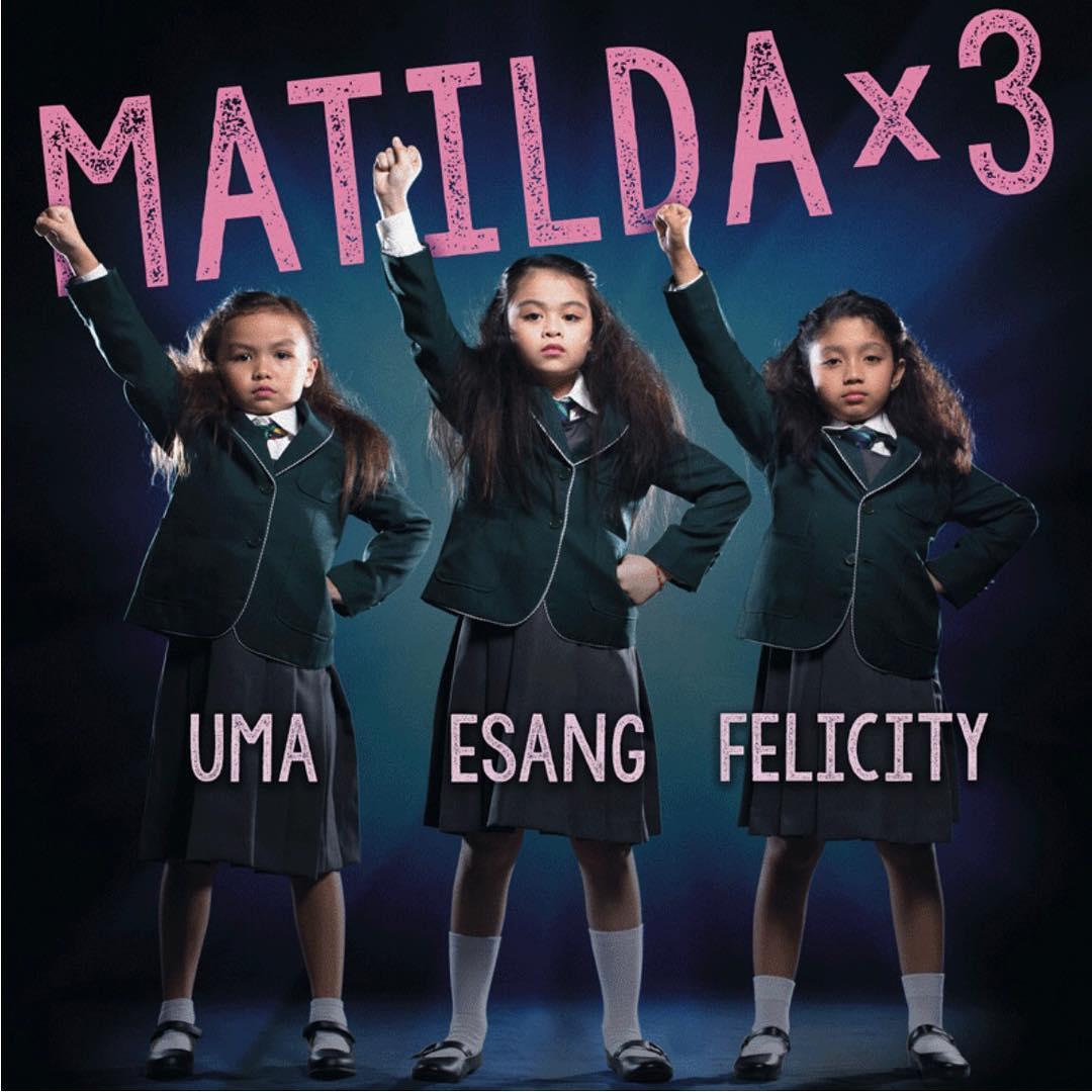 MATILDA. The three young actresses will be alternating for the title role in Atlantis Theatricalu2019s take on a well-loved tale. Screengrab from Instagram.com/msleasalonga