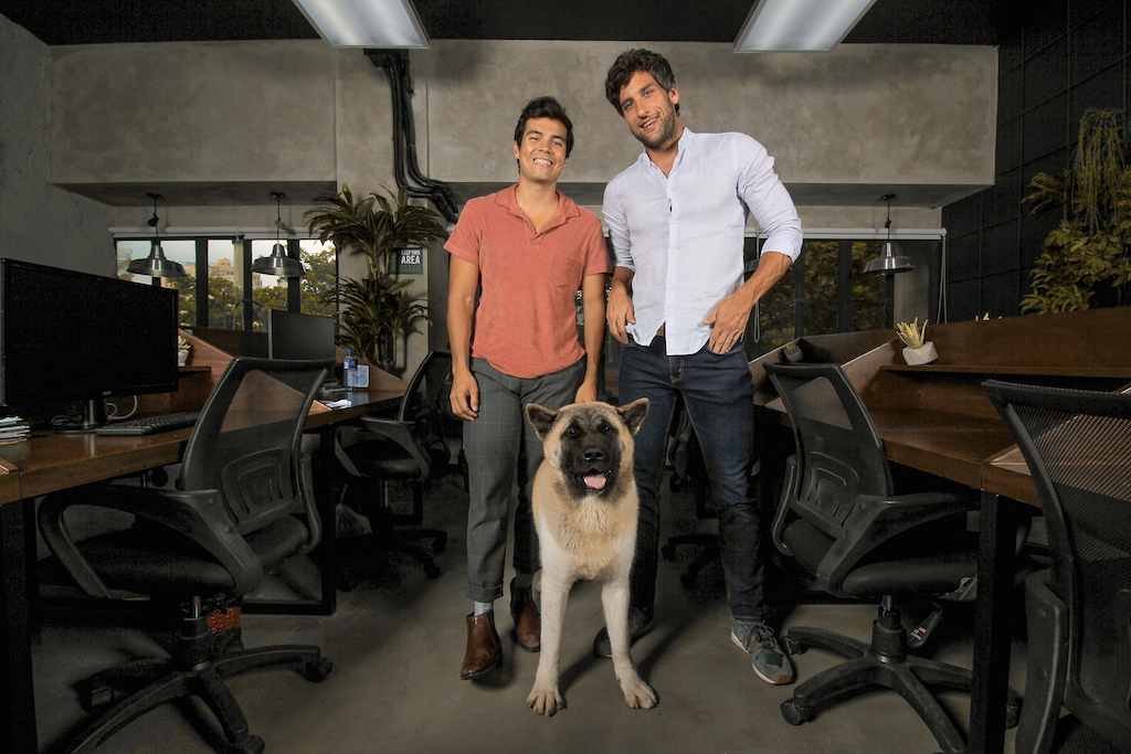 PET FRIENDLY. Erwan shares that he and Nico often bring their pets to the office, including Nico's adorable American Akita puppy, Pochola. Photo courtesy of Mundo Design + Build