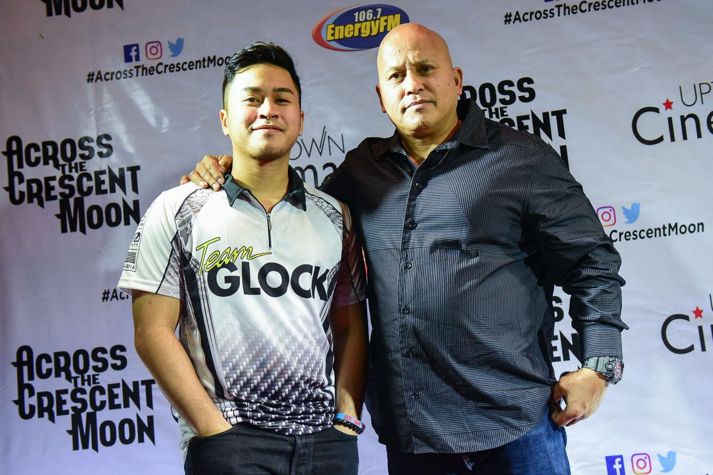 Dela Rosa with his son