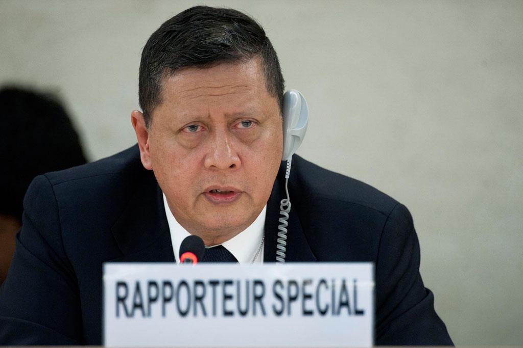 PENCARI FAKTA. Dewan HAM PBB menunjuk Marzuki Darusman sebagai Ketua Tim Pencari Fakta atas pelanggaran HAM yang terjadi di Myanmar pada Juli 2017. Foto oleh Jean-Marc Ferra/PBB