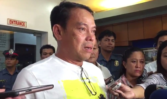 CRAME SAGA. Mayor Rolando Espinosa at Camp Crame. Screengrab