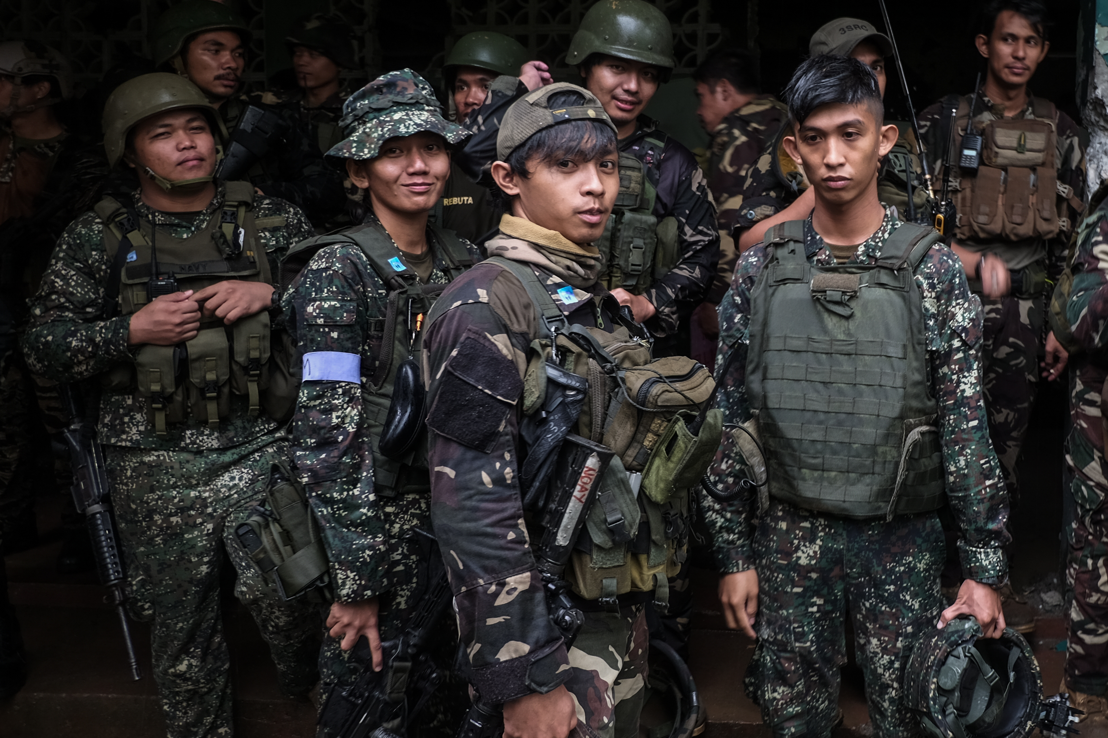 YOUNG BOYS. Thousands of soldiers are deployed to one of the biggest operation of the Philippine military.