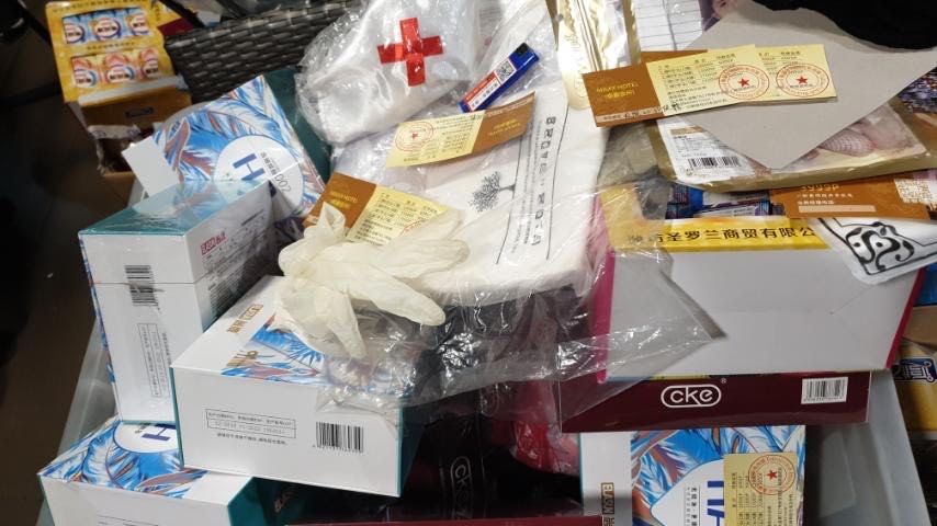 CONFISCATED. Confiscated by the police during the raid, were condoms, lubes and Chinese viagra. Photo from Makati Police