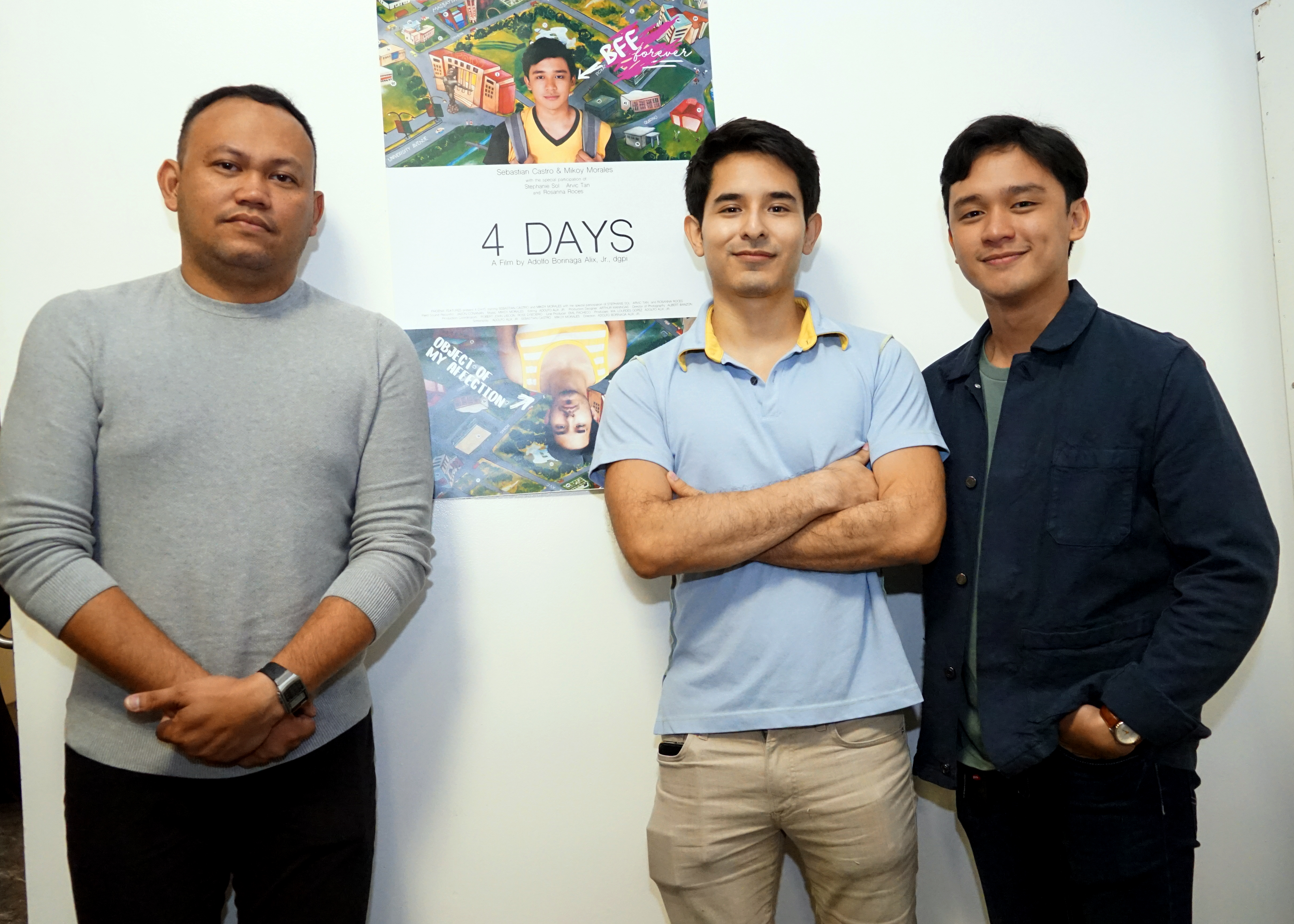 Mikoy and Sebastian with director Adolfo Alix Jr.