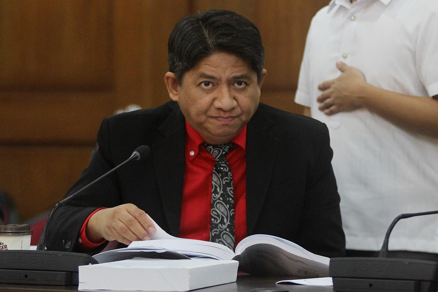 CANDID. Despite being scolded by lawmakers for statements which are deemed overboard, lawyer Larry Gadon says he would still say whatever is on his mind. Photo by Darren Langit/Rappler
