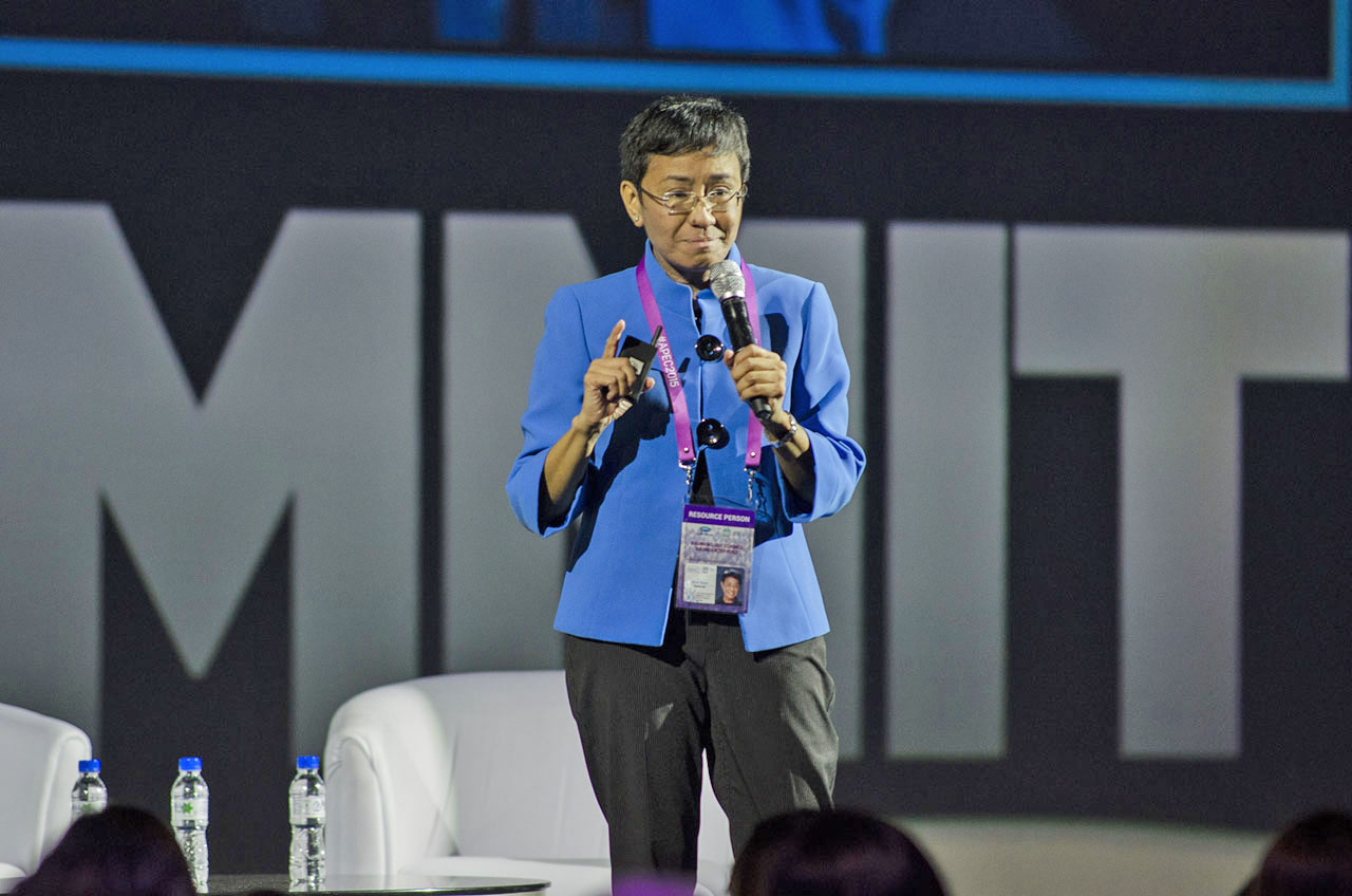 TAPPING SOCIAL MEDIA. Rappler CEO Maria Ressa says social media and technology combine for social good in Rappler. Photo by Rob Reyes/Rappler