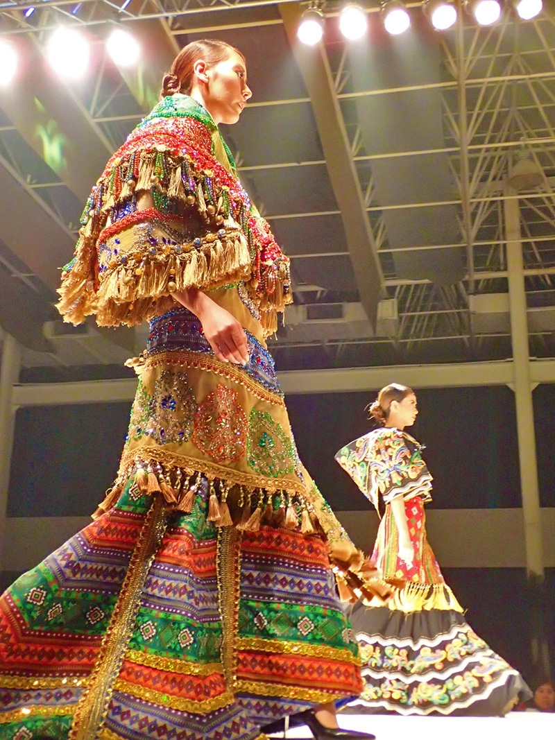 RAINBOW. These colorful gowns in the fashion show are made using Zamboanga Peninsula's indigenous textiles. Photo by Rhea Claire Madarang/Rappler